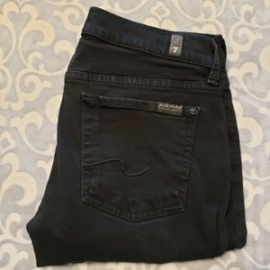 7 for All Mankind black straight leg jeans 27/34